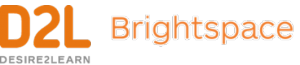 D2L logo and Brightspace logo. There are no pictures, just the respective words.