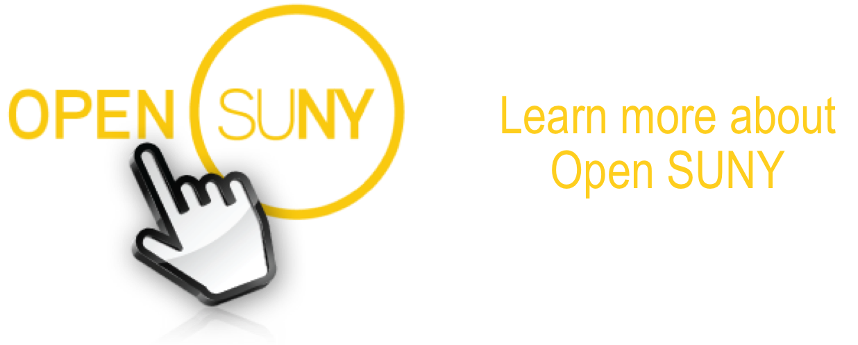 Learn more about Open SUNY! Find out more about what Open SUNY is and how we're building it