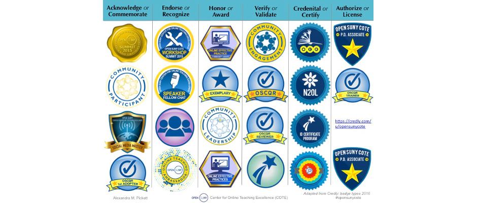 COTE badge types