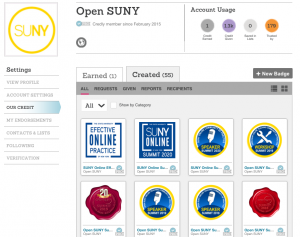 Open SUNY Badging via Credly