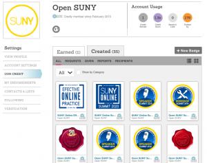 Open SUNY Badging via Credly