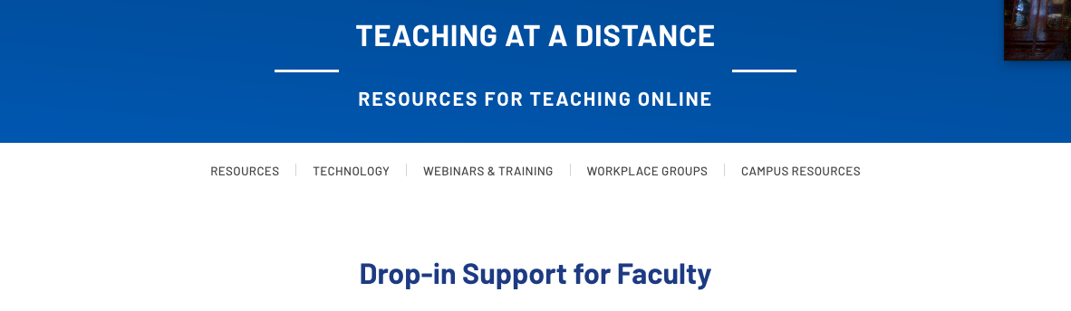 faculty supports website header