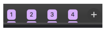 Tabs grouped by importance