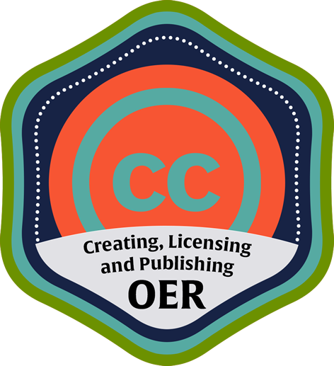 Creating, Licensing and Publishing OER Course Icon