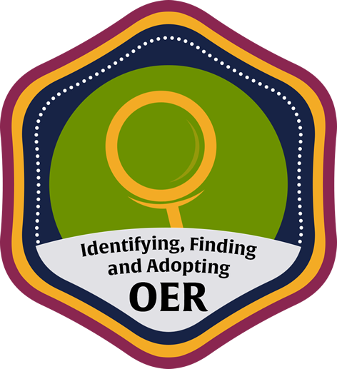 Identifying, Finding, and Adopting OER Course Icon
