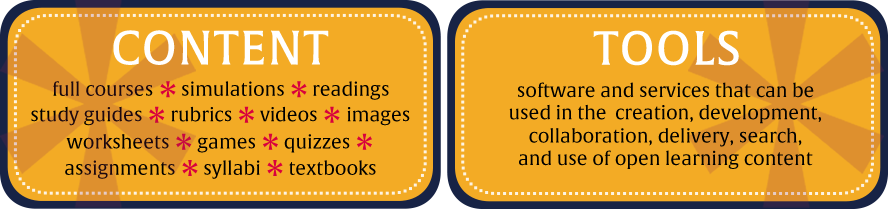 Content and Tools for OER