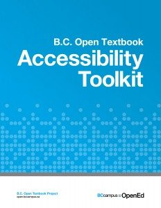 BC Campus Open Textbook Accessibility Toolkit Book Cover