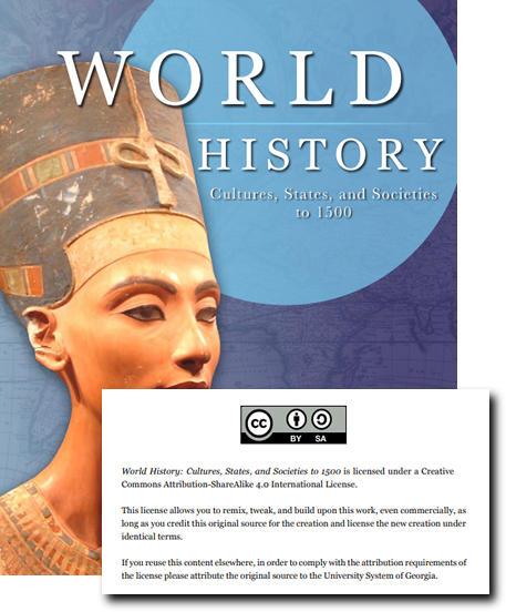World History OER Textbook Cover