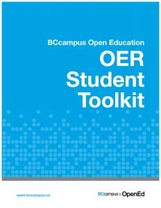 Cover of OER Student Toolkit book