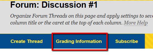 Rubric Grading Information