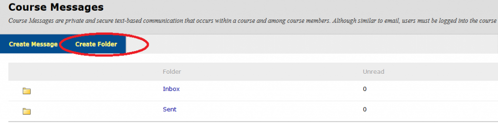 Course messages in Blackboard